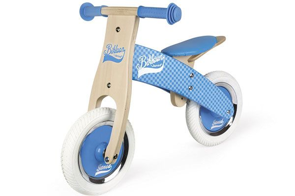 My first balance bike blauw van Janod.