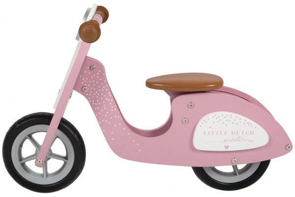 Roze loopscooter van Little Dutch.