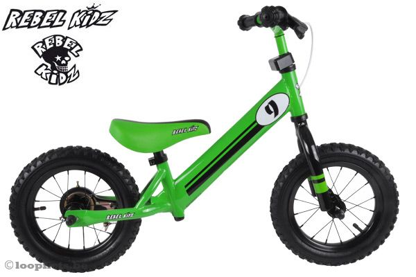 Rebel Kidz loopfiets Racing Green.